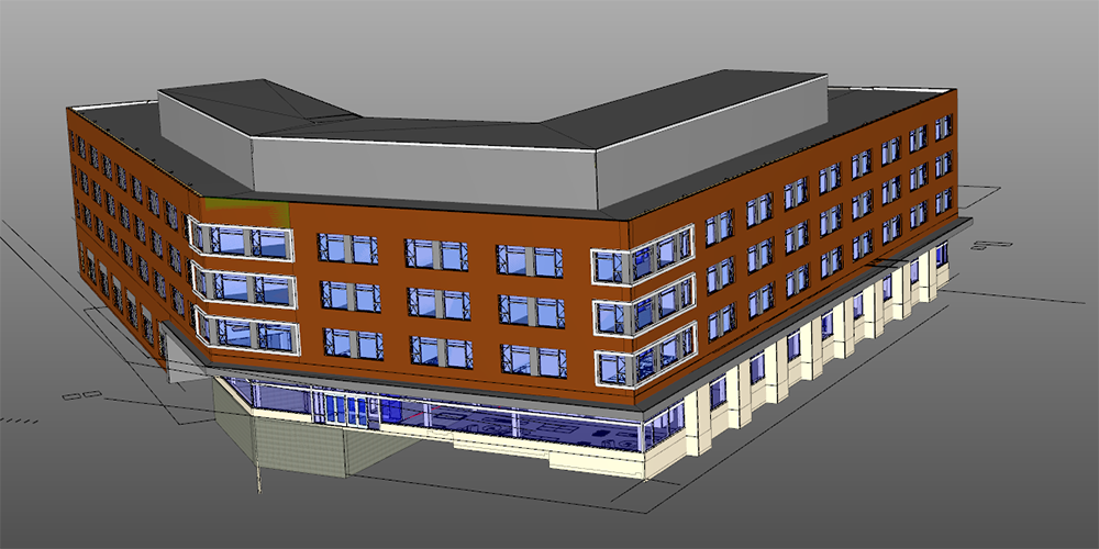 ferris state university construction north residence hall rendering