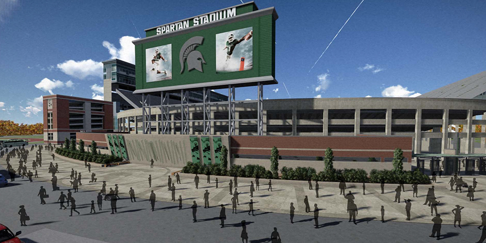 Photo Gallery: MSU Spartan Stadium South End Zone Construction