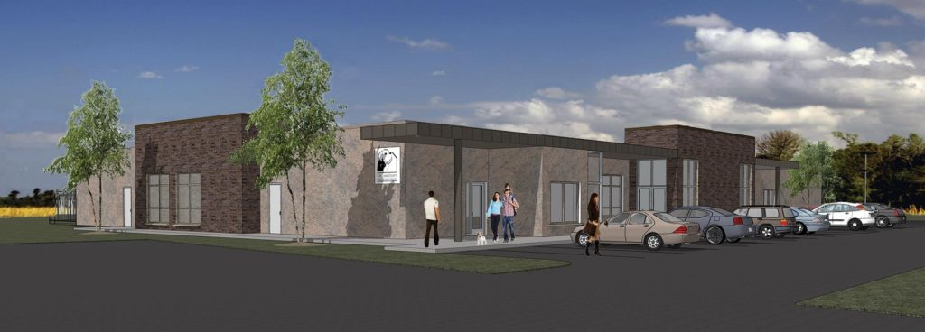 Ingham County Animal Control - Groundbreaking Ceremony 2018 - Granger Construction - New Facility Rendering