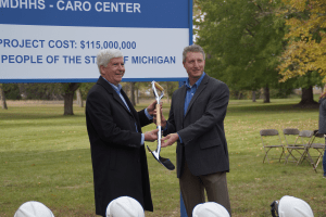 Granger Construction - Caro Center Groundbreaking - Psychiatric Facility Shortage - Ceremonial Shovel (small)