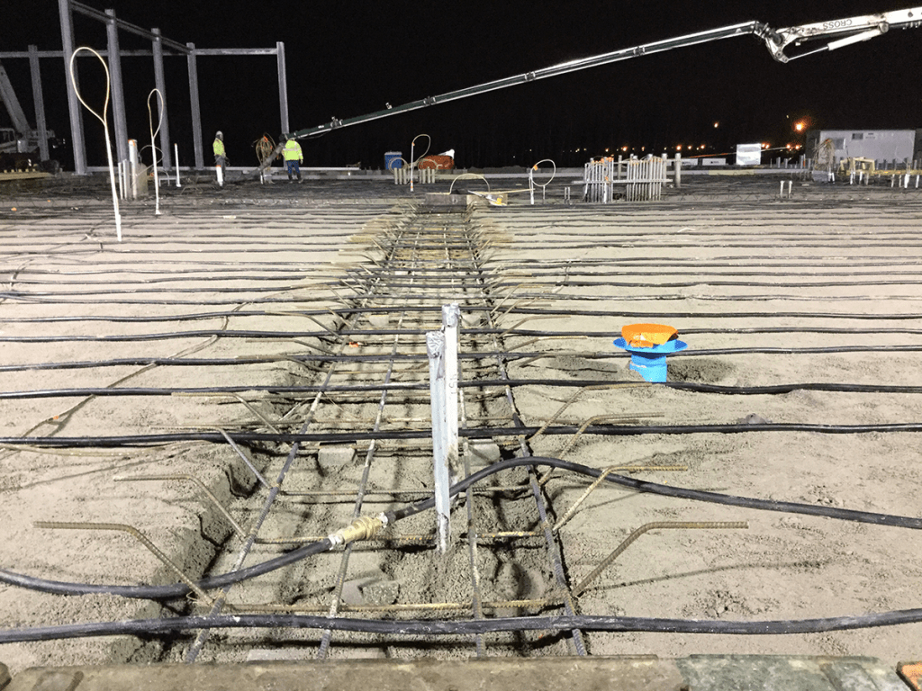 Cold-Weather Concrete Pours - Permanent Ground Thaw Hoses 001